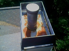 Canton's Best Gutter Cleaners' Certainteed Certified roofers can install or replace your custom chimney pan.